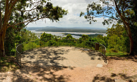 Laguna Lookout offers scenic views over Noosa in the Sunshine Coast region of Queensland, Australia. 写真素材