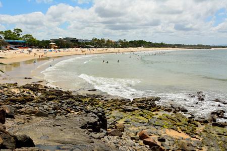 Noosa, Queensland, Australia - December 18, 2017. Beach in Laguna Bay in Noosa, Queensland, with people.