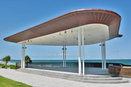 Yeppoon, Queensland, Australia - December 27, 2017. Public stage building on beach front in Yeppoon, QLD. Editöryel