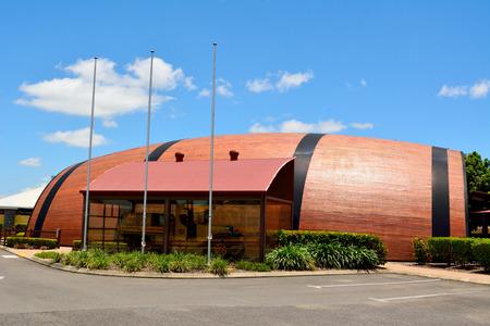 Bundaberg, Queensland, Australia - December 25, 2017. Bundaberg Barrel brewery building, known as the Big Barrel, in Bundaberg, QLD.