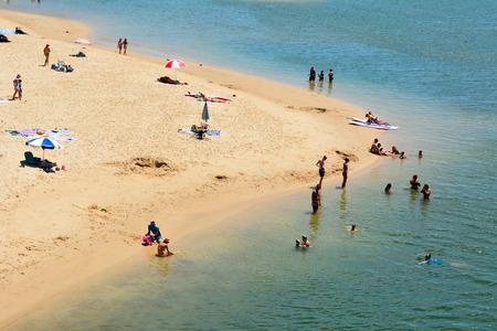 Currumbin, Gold Coast, Queensland, Australia - January 13, 2018. View of Currumbin beach, with people.