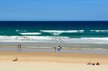 Noosa, Queensland, Australia - December 20, 2017. Peregian Beach south of Noosa, QLD, with people.