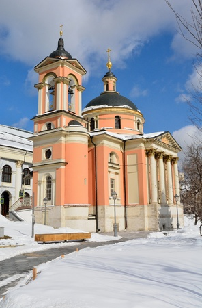 Church of Great Martyr Barbara in Varvarka street in Moscow, Russia, in winter. Standard-Bild
