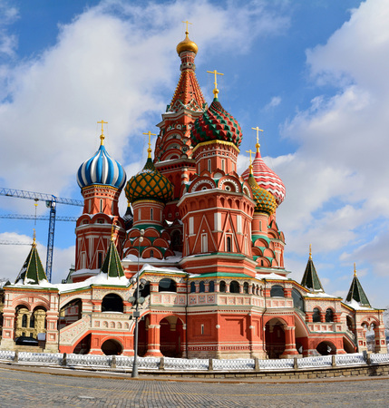 St Basil's Cathedral on the Red Square in Moscow. 免版税图像