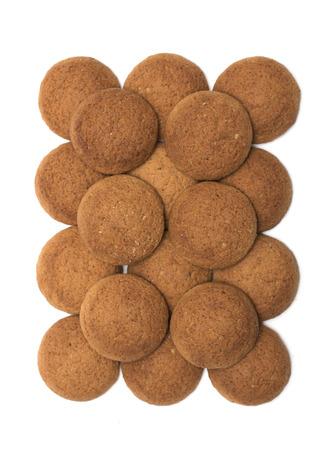 oatmeal cookies: Round oatmeal cookies. Photo.