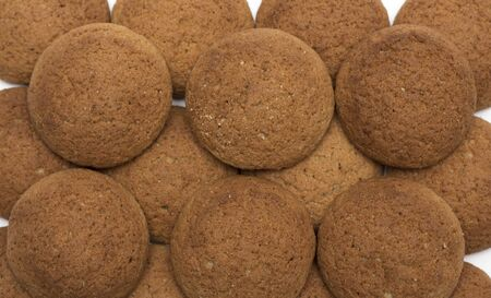 oatmeal cookies: Round oatmeal cookies. Background. Photo.
