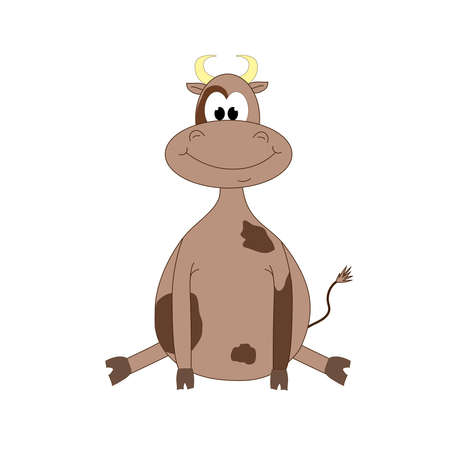 Brown bull on a white background. Vector. Symbol of the year ...