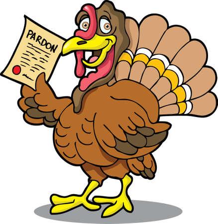 ce: Il s'agit d'une Turquie avec une gr�ce.  Illustration