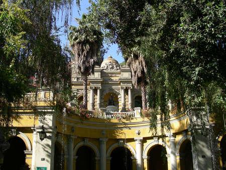 santiago: A classic old building in a park in Santiago