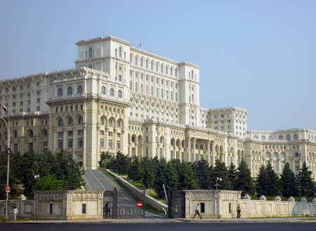 bucarest: Le Palais du Parlement � Bucarest en Roumanie  Banque d'images