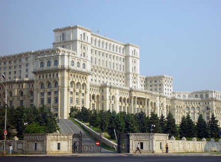 romania: The Parliament Palace in Bucharest in Romania