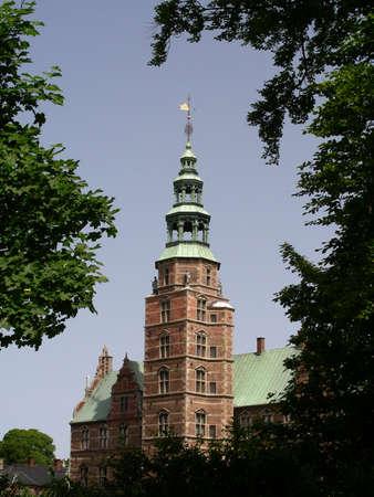 Rosenborg Castle next to Kings Garden in the center of Copenhagen           photo