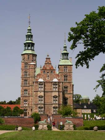 Rosenborg Castle seen from Kings Garden in the center of Copenhagen          photo