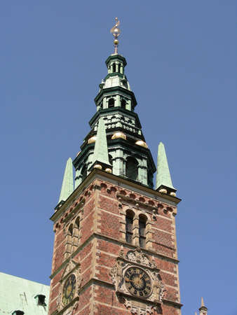 One of the towers at Frederiksborg Castle          photo