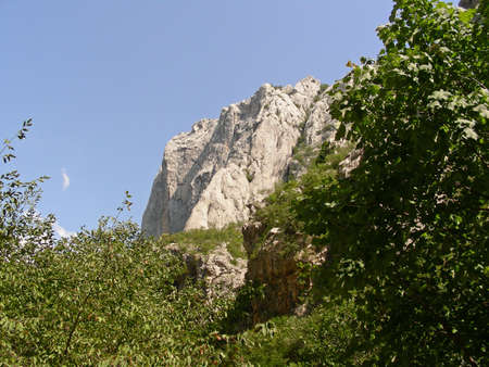 paklenica:  The nature to see during a trek through Paklenica National Park in Croatia            Stock Photo