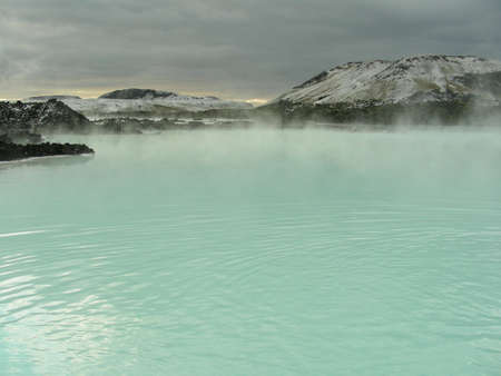 A part of The Blue Lagoon on Island