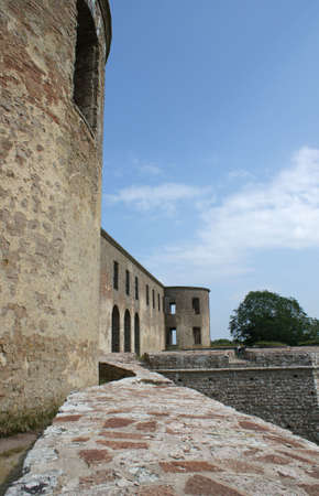 oland: The ruin of Borgholm Castle from the 12th century on Oland in Sweden Stock Photo