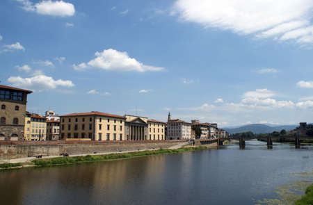 river arno: View over the river Arno whish is running through Florence