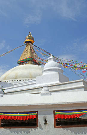 The buddhist stupa of Bodhnath in Kathmandu the capital of Nepal Stock Photo - 5722167