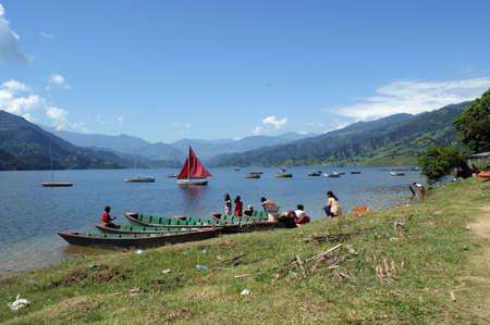 tal: The Phaew Tal lake next to Pokhara in Nepal Stock Photo