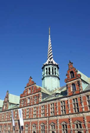 Dragon-Spire, eines der ältesten Gebäude in Kopenhagen ? von König Christian IV von 1619-1640 in niederländischer Renaissance-Stil gebaut