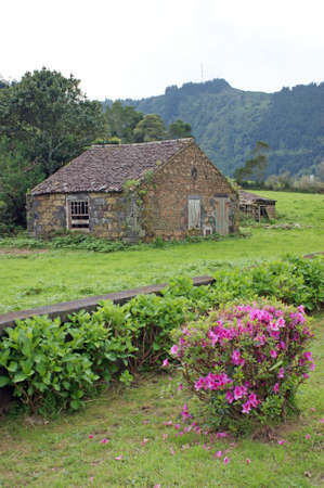 Old house close to the town Sete Cidades on the island of Sao Miguel which is a part of the Azores Islands photo