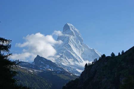matterhorn: The top of the Matterhorn mountain close to Zermatt in Switzerland