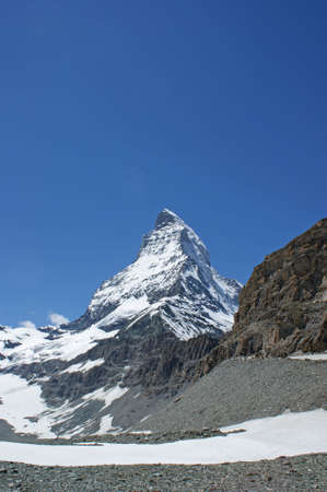 The Matterhorn in the Swiss alps photo