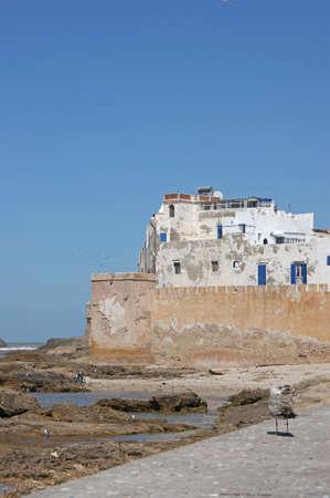 windy city: Essaouira que es una ciudad tur�stica y con viento en la regi�n occidental de Marruecos en la costa atl�ntica. Foto de archivo