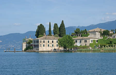 largest: Lake Garda whichis the largest lake in Italy Stock Photo