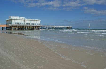 Boardwalk pier on Daytona Beach in the sunshine state of Florida
