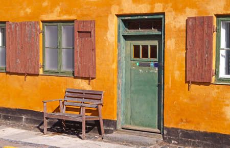 trave: Nyboder with its orange houses which is a historic row house district of former Naval barracks in Copenhagen