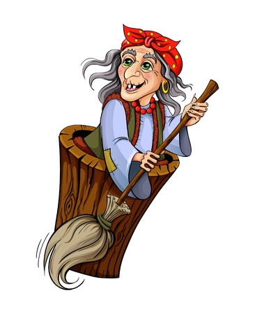 Baba Yaga. Witch from Russian folk tales