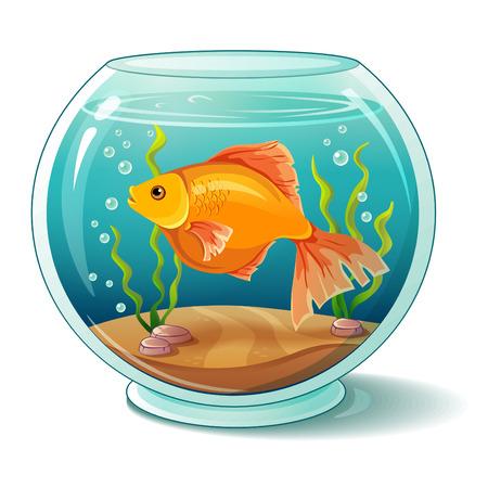 grit: Goldfish in aquarium Illustration