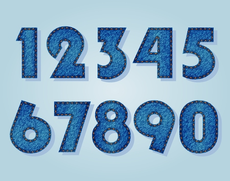 numbers: Jeans numbers Illustration
