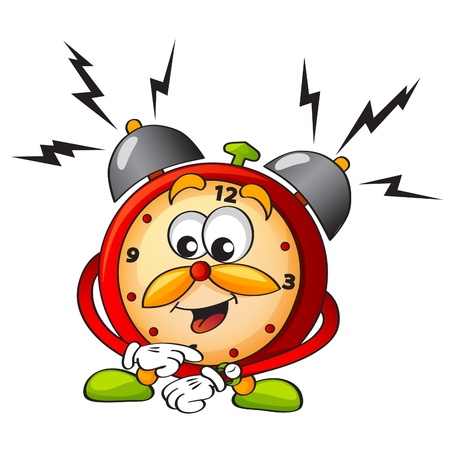 cartoon alarm clock Stock Illustratie