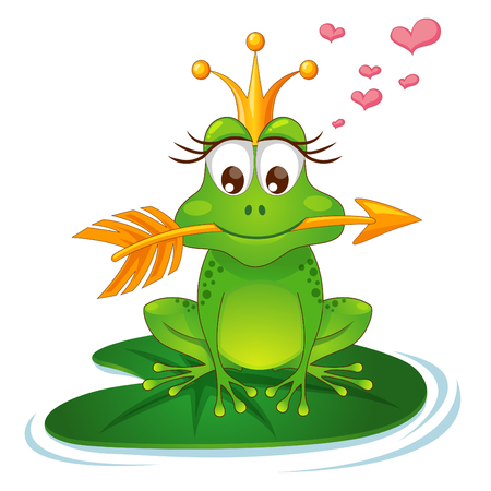 Princess frog with a golden arrow