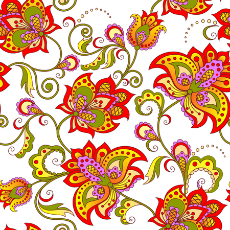 seamless floral pattern: floral seamless pattern Illustration
