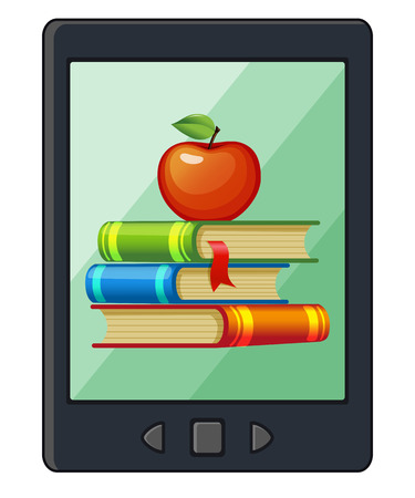 reader: E-book reader icon Illustration
