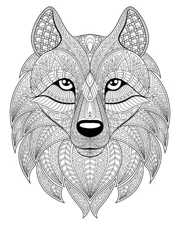 Wolf head 일러스트