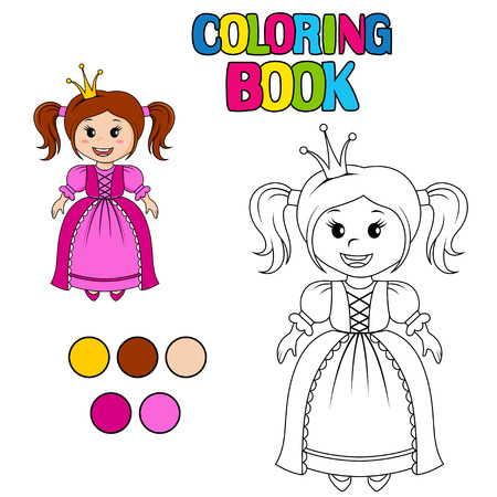 ruffles: Coloring book with princess