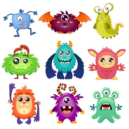 redheaded: Cute cartoon monsters