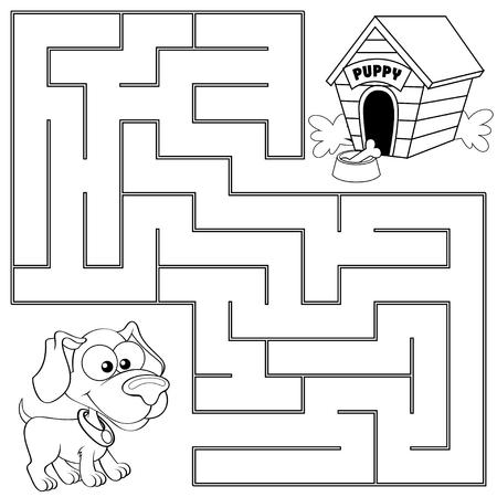Helfen Sie, Den Weg Zum Honig Zu Finden. Labyrinth. Labyrinth-Spiel ...