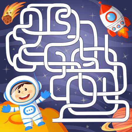 Help cosmonaut find path to rocket.