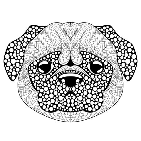 Atractivo Páginas Para Colorear De Pugs De Bebé Embellecimiento ...