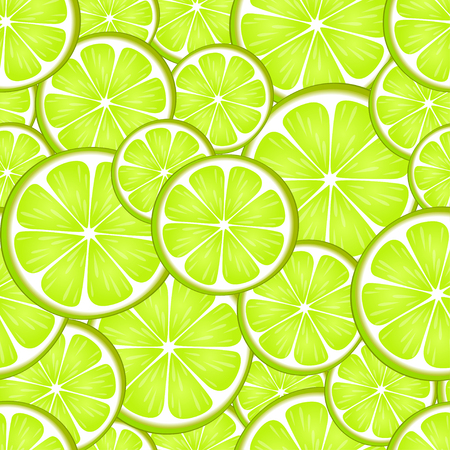 Seamless pattern with green lemon. Lime. Citrus background