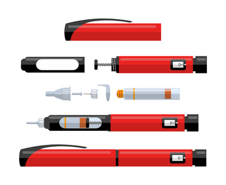 Part of diabetic insulin pen Illustration