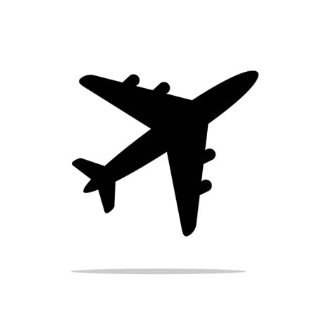 Airplane icon. Vector illustration on white background