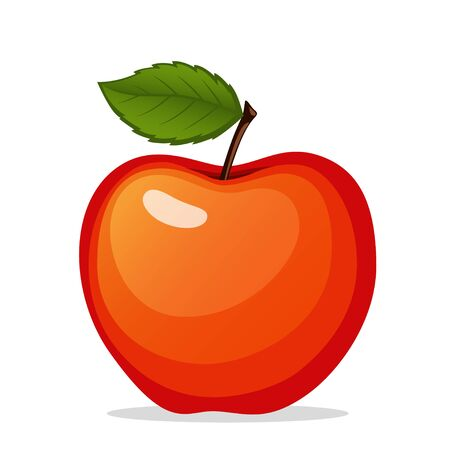 Red apple isolated on white background Illustration