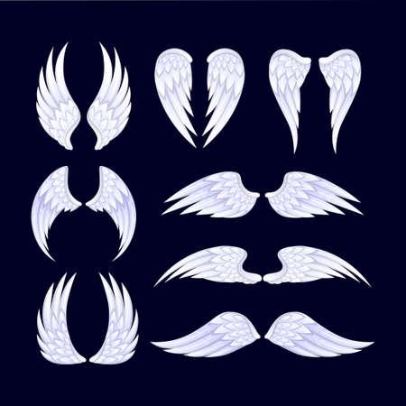 Angel wings set. Vector illustration 일러스트